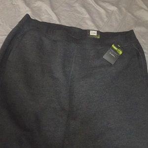 Grey banded bottom, mid rise sweatpants w/ pockets